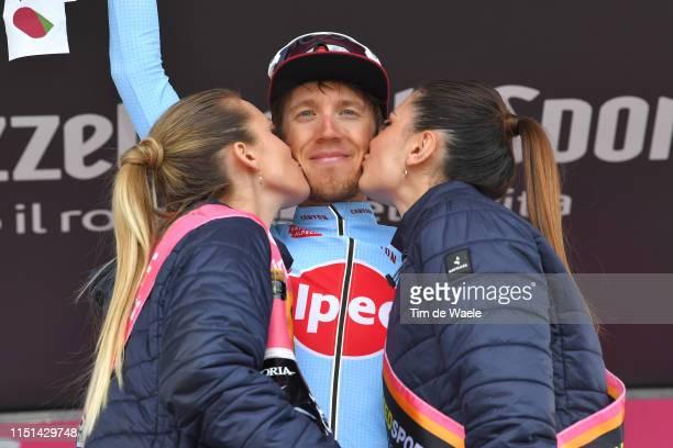 Podium / Ilnur Zakarin of Russia and Team Katusha Alpecin / Celebration / Champagne / Miss / Hostess / during the 102nd Giro d'Italia 2019, Stage 13...
