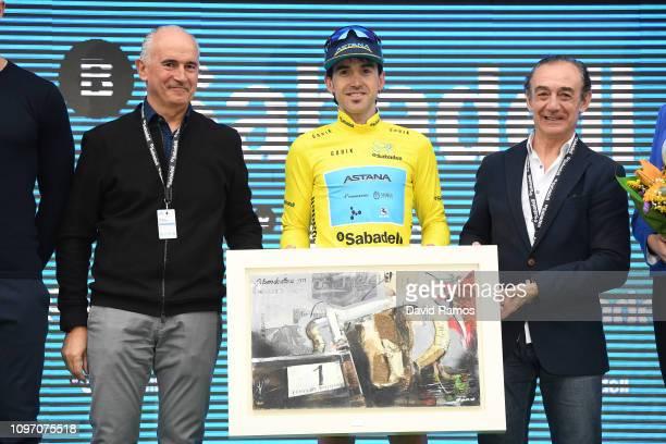 Podium / Ion Izaguirre of Spain and Astana Pro Team Yellow Leader Jersey / Celebration / Trophy / during the 70th Volta a la Comunitat Valenciana...