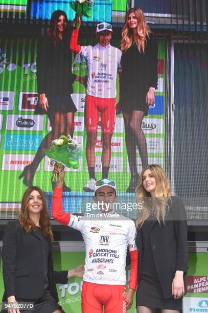 Podium / Ivan Ramiro Sosa of Colombia and Team Androni Sidermec Bottecchia White Best Young Rider Jersey / Celebration / during the 42nd Tour of the...