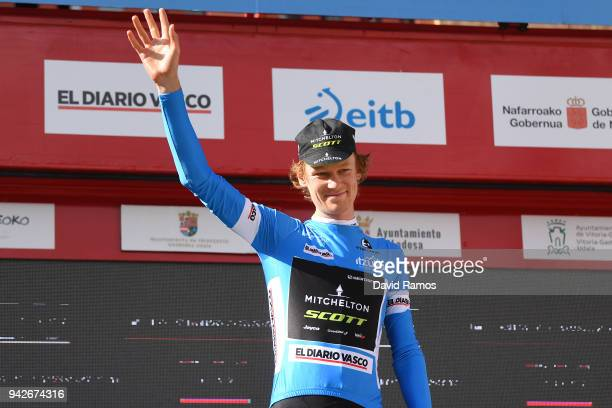 Podium / Jack Haig of Australia and Team Mitchelton-Scott Blue Young Jersey / Celebration / during the 58th Vuelta Pais Vasco 2018, Stage 5 a 164,7km...