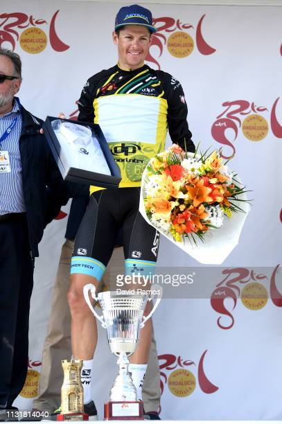 Podium / Jakob Fuglsang Denmark and Astana Pro Team Yellow Leader Jersey / Celebration / Trophy / Flowers / during the 65th Ruta del Sol 2019, Stage...