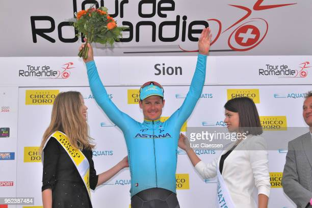 Podium / Jakob Fuglsang of Denmark and Astana Pro Team / Celebration / during the 72nd Tour de Romandie 2018 Stage 4 a 1492km stage from Sion to Sion...
