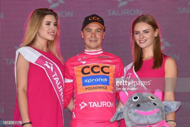 Podium / Jan Tratnik of Slovenia and Team Ccc Sprandi Polkowice Pink Mountain Jersey / Celebration / during the 75th Tour of Poland 2018 Stage 5 a...
