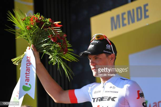 Podium / Jasper Stuyven of Belgium and Team Trek Segafredo / Most Combative Rider / Celebration / during the 105th Tour de France 2018, Stage 14 a...