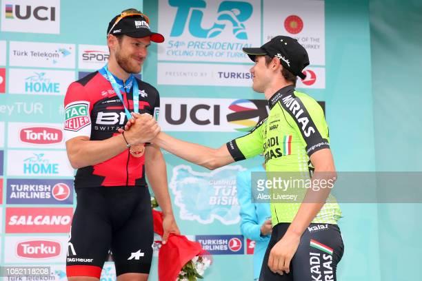 Podium / Jean Pierre Drucker of Luxembourg and BMC Racing Team / Eduard Prades Reverte of Spain and Team Euskadi Basque CountryMurias / Celebration /...