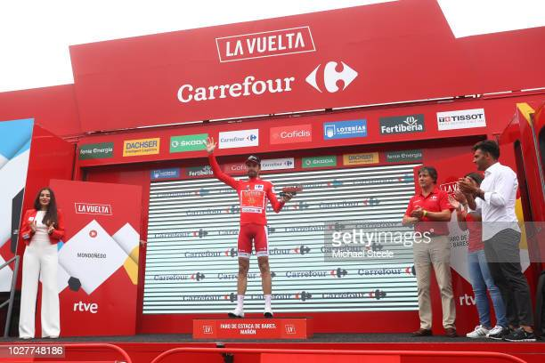 Podium / Jesus Herrada of Spain and Team Cofidis Red Leader Jersey / Celebration / during the 73rd Tour of Spain 2018, Stage 12 a 181,1km stage from...