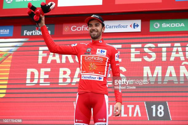Podium / Jesus Herrada of Spain and Team Cofidis Red Leader Jersey / Celebration / Bull Mascot / during the 73rd Tour of Spain 2018, Stage 12 a...