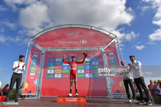 Podium / Jesus Herrada of Spain and Team Cofidis Red Leader Jersey / Celebration / during the 73rd Tour of Spain 2018, Stage 13 a 174,8km stage from...
