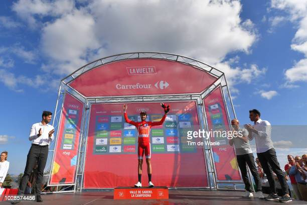 Podium / Jesus Herrada of Spain and Team Cofidis Red Leaders Jersey / Celebration / during the 73rd Tour of Spain 2018, Stage 13 a 174,8km stage from...