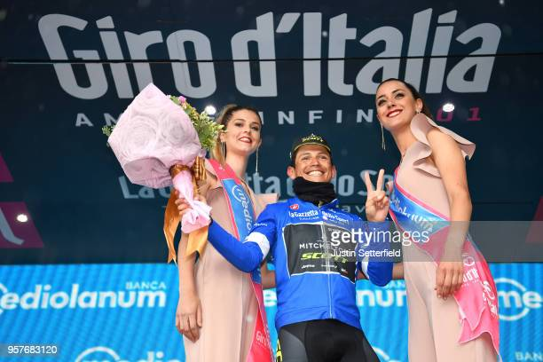 Podium / Johan Esteban Chaves Rubio of Colombia and Team Mitchelton-Scott Blue Mountain Jersey / Celebration / during the 101th Tour of Italy 2018,...