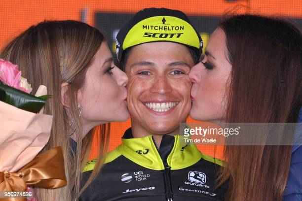 Podium / Johan Esteban Chaves Rubio of Colombia and Team MitcheltonScott / Celebration / during the 101th Tour of Italy 2018 Stage 6 a 164km stage...