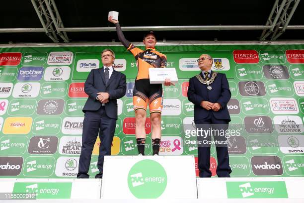 Podium / Jolien D'Hoore of Belgium and Team Boels Dolmans / Celebration / during the 6th OVO Energy Women's Tour 2019 Stage 1 a 1576 km stage from...