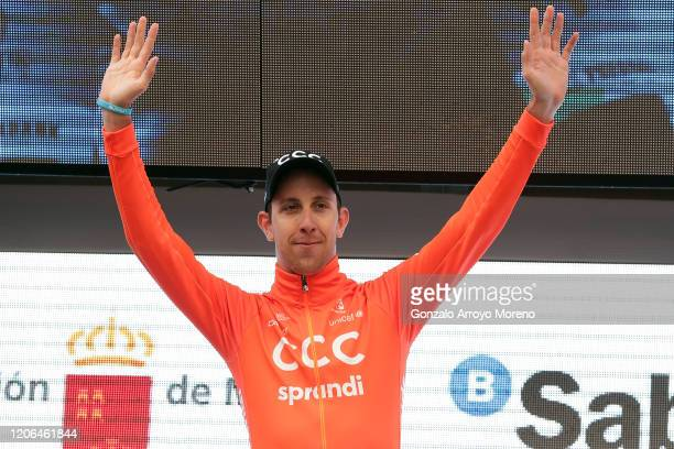 Podium / Josef Černý of Czech Republic and CCC Team / Celebration / Trophy / during the 40th Vuelta a Murcia 2020, Stage 2 a 179,6km stage from...