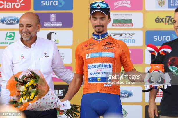 Podium / Julian Alaphilippe of France and DeceuninckQuickstep Team Orange Leader Jersey / Celebration / during the 2nd Tour of Colombia 2019 Stage 5...