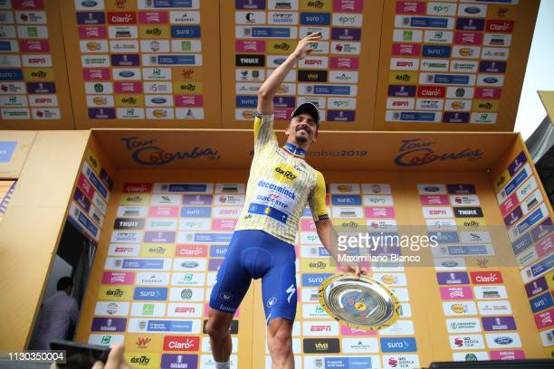 Podium / Julian Alaphilippe of France and DeceuninckQuickstep Team Yellow Points Jersey / Celebration / during the 2nd Tour of Colombia 2019 Stage 6...