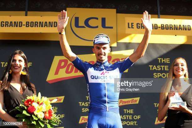 Podium / Julian Alaphilippe of France and Team Quick-Step Floors / Celebration / during the 105th Tour de France 2018 / Stage 10 a 158,5km stage from...