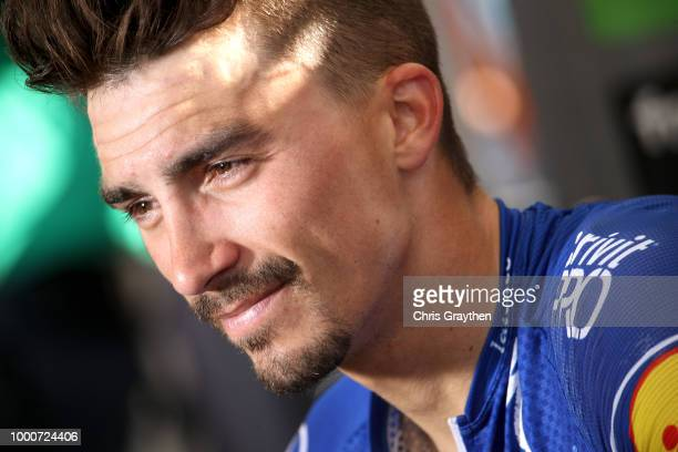 Podium / Julian Alaphilippe of France and Team QuickStep Floors / Celebration / during the 105th Tour de France 2018 / Stage 10 a 1585km stage from...