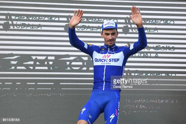 Podium / Julian Alaphilippe of France and Team QuickStep Floors / Celebration / during the 58th Vuelta Pais Vasco 2018 Stage 2 a 1667 stage from...