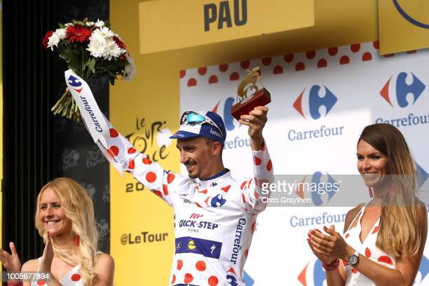 Podium / Julian Alaphilippe of France and Team QuickStep Floors Polka Dot Mountain Jersey / Celebration / during the 105th Tour de France 2018 Stage...