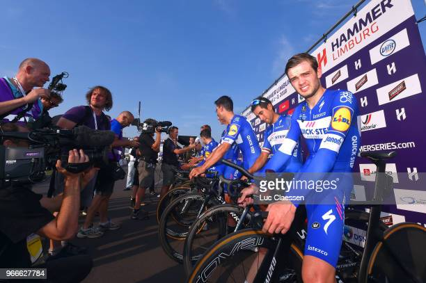 Podium / Kasper Asgreen of Denmark and Team Quick-Step Floors / Celebration / during the 3rd Velon Hammer Series 2018, Stage 3 a 49,6km Team time...