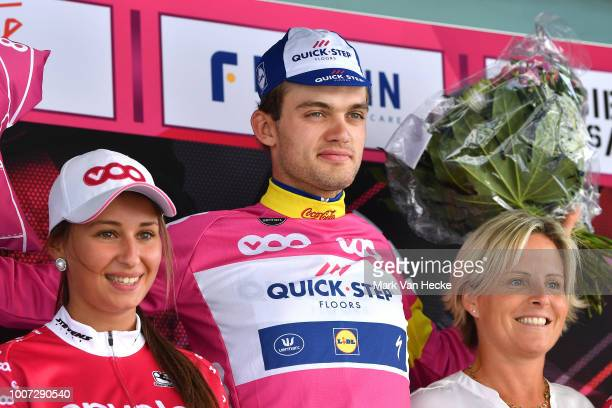 Podium / Kasper Asgreen of Denmark and Team Quick-Step Floors Pink Sprints Jersey / Celebration / during the 39th Tour Wallonie 2018, Stage 2 a...