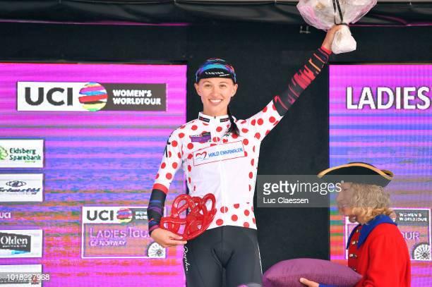 Podium / Katarzyna Niewiadoma of Poland and Team Canyon SRAM Racing / Polka dot mountain jersey Celebration / during the 4th Ladies Tour of Norway...