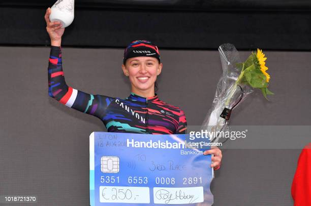 Podium / Katarzyna Niewiadoma of Poland and Team Canyon SRAM Racing / Celebration / during the 4th Ladies Tour of Norway 2018 Stage 2 a 1277km stage...