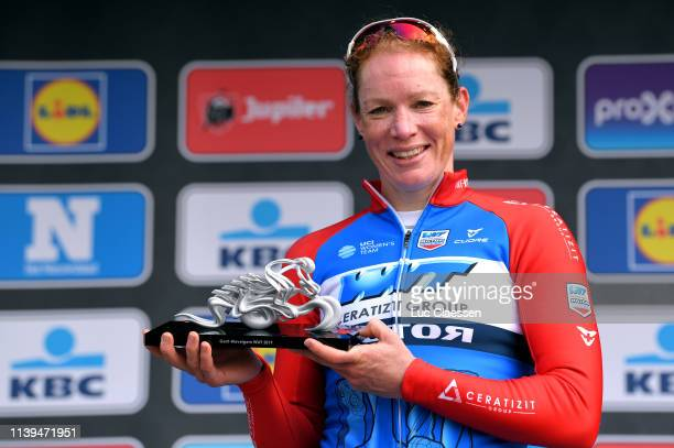 Podium / Kirsten Wild of The Netherlands and Team WNT-Rotor Pro Cycling / Celebration / Trophy / during the 8th Gent-Wevelgem In Flanders Fields...