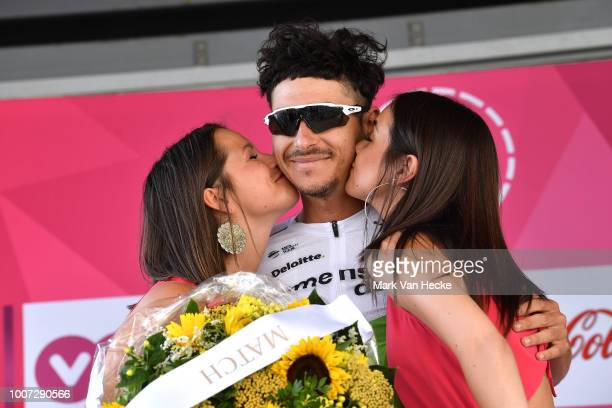 Podium / Lachlan Morton of Australia and Team Dimension Data Most Combative Rider Celebration / during the 39th Tour Wallonie 2018 Stage 2 a 1934km...
