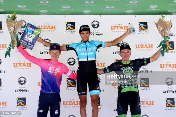 Podium / Lawson Craddock of The United States and Team EF Education First / James Piccoli of Canada and Team Elevate-KHS Pro Cycling / Serghei...