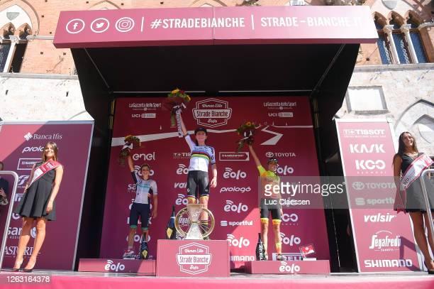 Podium / Leah Thomas of The United Statesand Team Equipe Paule Ka / Annemiek Van Vleuten of The Netherlands and Team Mitchelton Scott World Champion...