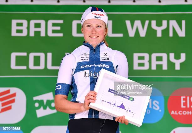 Podium / Lotta Pauliina Lepisto of Finland and CerveloBigla Pro Cycling Team / Celebration / during the 5th OVO Energy Women's Tour 2018 Stage 5 a...