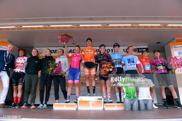Podium / Lucinda Brand of The Netherlands and Team Sunweb Polka Dot Mountain Jersey / Anna Van Der Breggen of The Netherlands and Boels Dolmans...