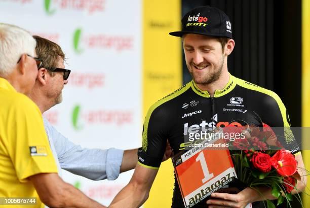 Podium / Luke Durbridge of Australia and Team Mitchelton-Scott Most Combative Rider / Celebration / during the 105th Tour de France 2018, Stage 18 a...