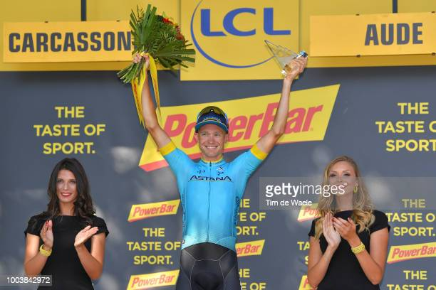 Podium / Magnus Cort Nielsen of Denmark and Astana Pro Team / Celebration / during the 105th Tour de France 2018, Stage 15 a 181,5km stage from...