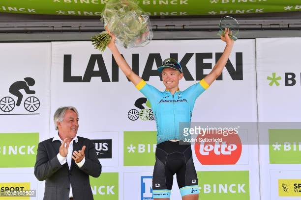 Podium / Magnus Cort Nielsen of Denmark and Astana Pro Team / Celebration / during the 14th BinckBank Tour 2018, Stage 5 a 204,4km stage from...