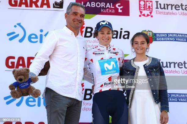 Podium / Malgorzata Jasinska of Poland and Movistar Team Polka Dot Mountain Jersey / Celebration / during the 31st Women WT Emakumeen. Bira 2018,...