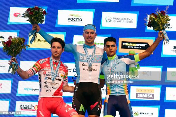 Podium / Manuel Belletti of Italy and Team Androni Giocattoli - Sidermec Silver medal / Rudy Barbier of France and Team Israel Start - Up Nation Gold...