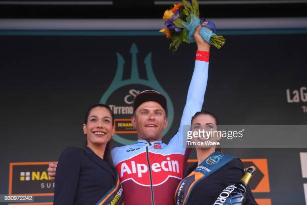Podium / Marcel Kittel of Germany Celebration / during the 53rd TirrenoAdriatico 2018 Stage 6 a 153km stage from Numana to Fano on March 12 2018 in...