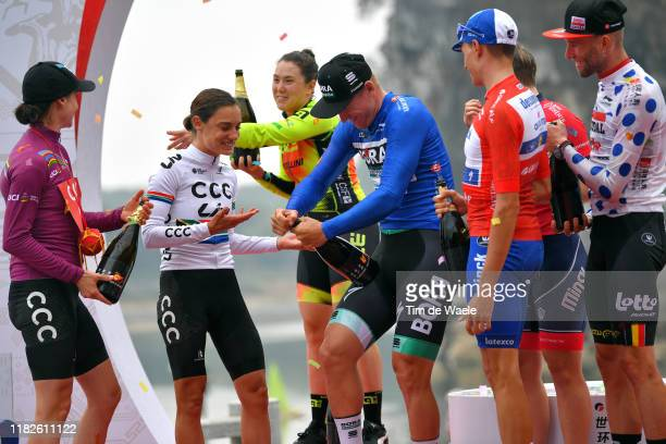 Podium / Marianne Vos of Netherlands and Team CCC - Liv UCI Leader Jersey / Ashleigh Moolman - Pasio of South Africa and Team CCC - Liv / Chloe...