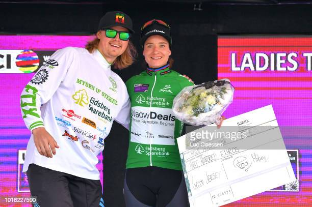 Podium / Marianne Vos of The Netherlands and Team WaowDeals Pro Cycling / Green points jersey Celebration / during the 4th Ladies Tour of Norway...
