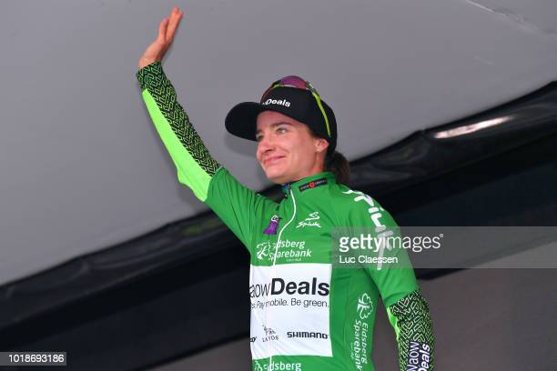 Podium / Marianne Vos of The Netherlands and Team WaowDeals Pro Cycling / Green points jersey Celebration / during the 4th Ladies Tour of Norway 2018...