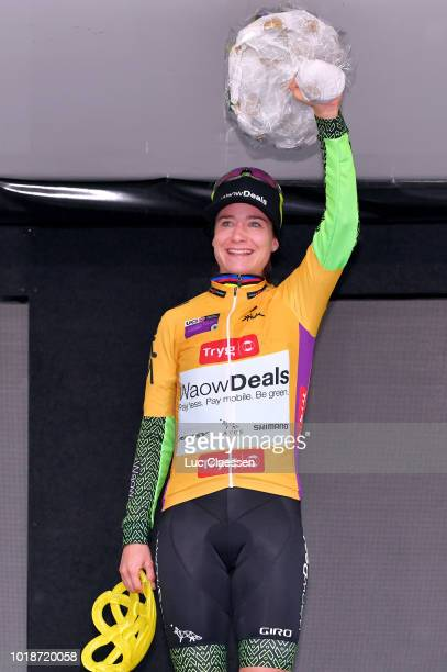 Podium / Marianne Vos of The Netherlands and Team WaowDeals Pro Cycling / Yellow Leader Jersey / during the 4th Ladies Tour of Norway 2018 Stage 2 a...