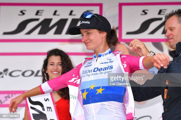 Podium / Marianne Vos of The Netherlands and Team WaowDeals Pro Cycling Points Jersey / Celebration / during the 29th Tour of Italy 2018 Women Stage...