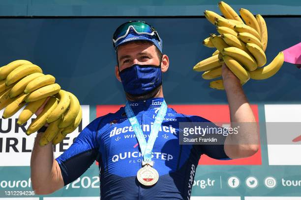 Podium / Mark Cavendish of United Kingdom and Team Deceuninck - Quick-Step Celebration, during the 56th Presidential Cycling Tour of Turkey 2021,...