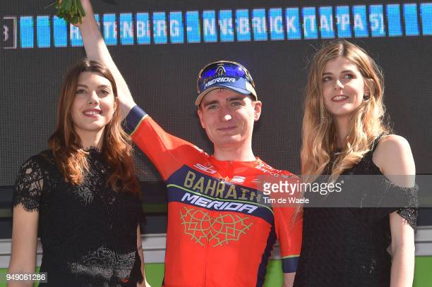Podium / Mark Padun of Ukraine and Team Bahrain Merida / Celebration / during the 42nd Tour of the Alps 2018, Stage 5 a 164,2km stage from Rattenberg...