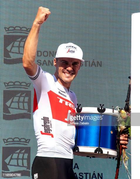 Podium / Markel Irizar Aranburu of Spain and Team Trek-Segafredo / Celebration / Trophy / Farewell Tribute to Markel Irizar after his last race as...