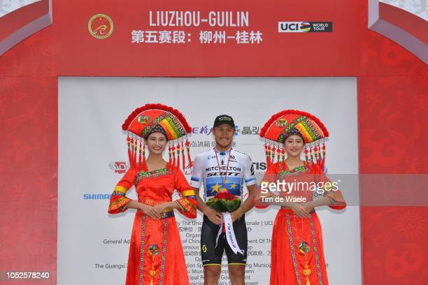 Podium / Matteo Trentin of Italy and Team Mitchelton-Scott / Celebration / during the 2nd Tour Of Guangxi 2018, Stage 5 a a 212,2km stage from...