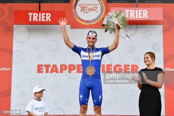 Podium / Maximilian Schachmann of Germany and Team Quick-Step Floors / Celebration / during the 33rd Deutschland Tour 2018, Stage 2 a 196km stage...