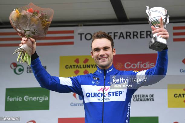 Podium / Maximilian Schachmann of Germany and Team Quick-Step Floors / Celebration / Trophy / Flowers / during the 98th Volta Ciclista a Catalunya...